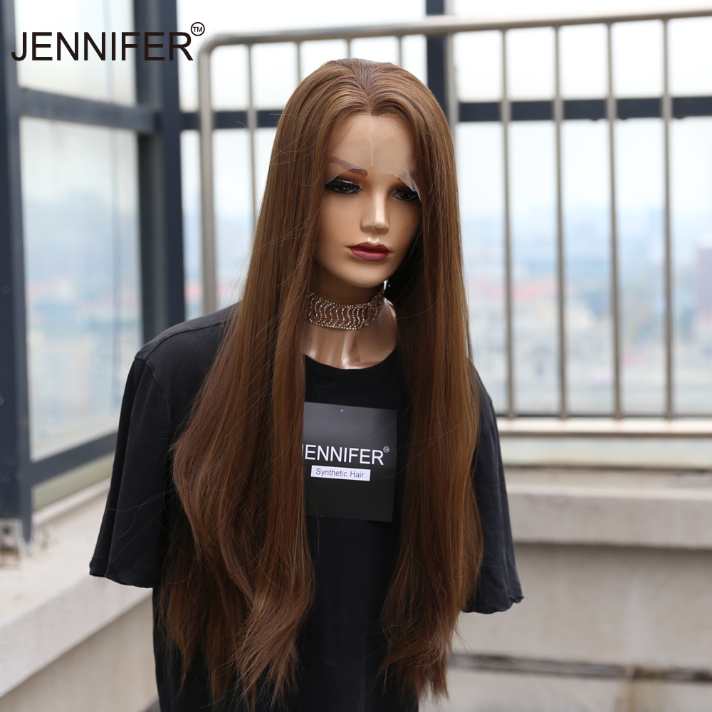Long Straight Synthetic wigs Purple/Red/Orange/Dark Purple/Brown/Color mixing 6 color Lace Front Wigs For Women Cosplay