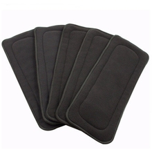 3Pcs Washable Changing Nappy Liner Reusable Inserts for Real Pocket Cloth Diaper Microfiber Bamboo Charcoal Insert