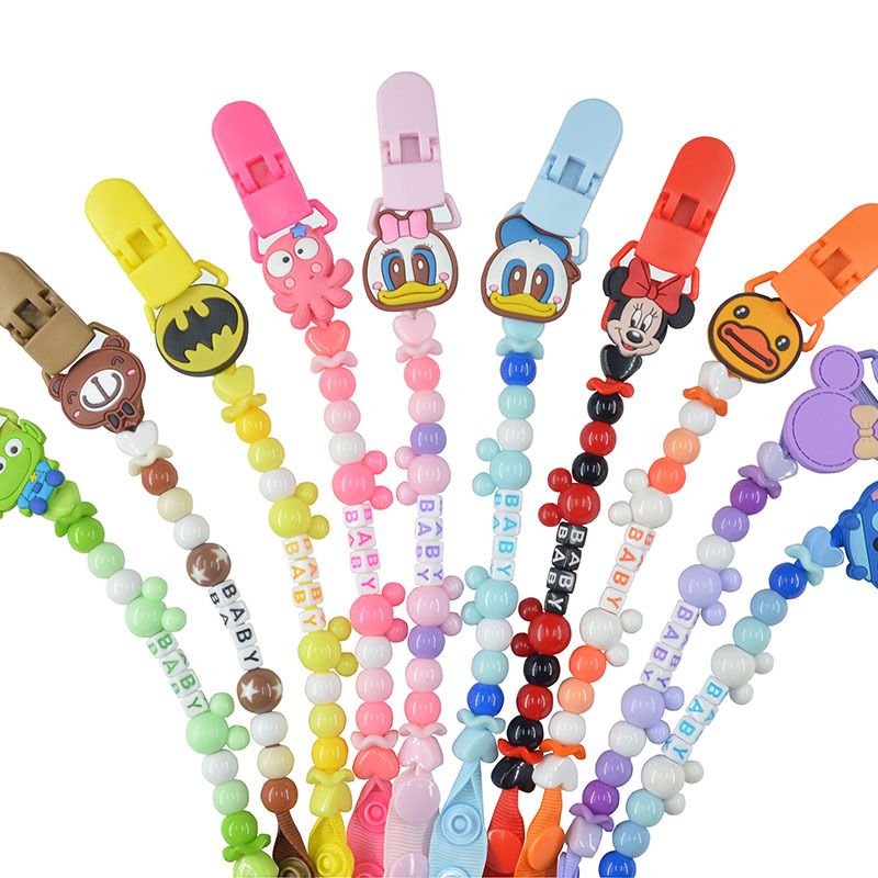 Baby Pacifier Clip Chain Infant Boys Girls Cute Cartoon Bear Teether Anti-drop Rope Baby Nipple Feeding Holder Cadena Chupete