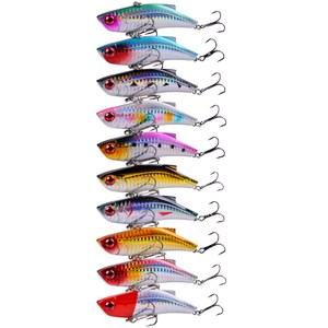 Image 4 - 10 個冬魚vib餌海フックレーザー塗装釣りルアー鯉餌isca人工パラペスカクランクベイト 8.9 センチメートル/28 グラム