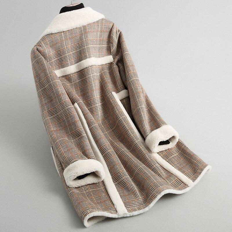 Autumn Winter Coats Ladies Warm Thick Wool Fur Jackets Top Quality Lamb Fur Parkas Casaco De Inverno KQN18009 MF498