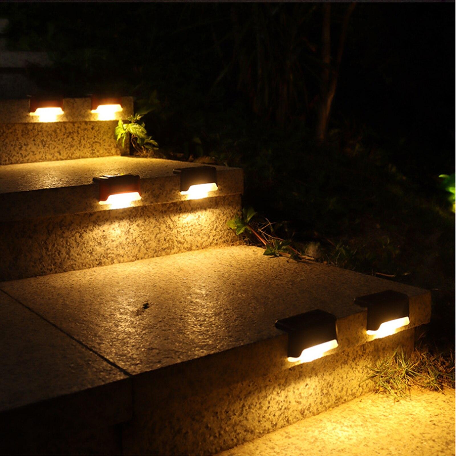 4 pcs paisagem iluminacao passos cerca lampadas jardim multitools 03