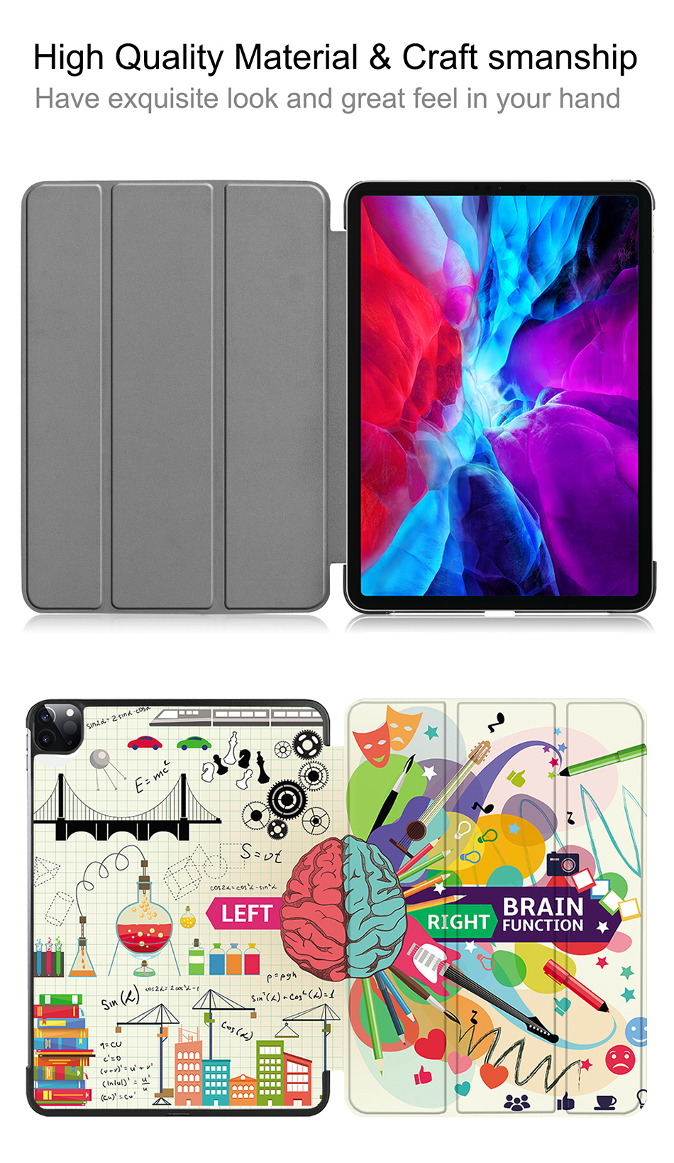 Pro 12.9 Flip PU Case Leather inch Model iPad Release For MTT Magnetic 2020 A2229 A2233