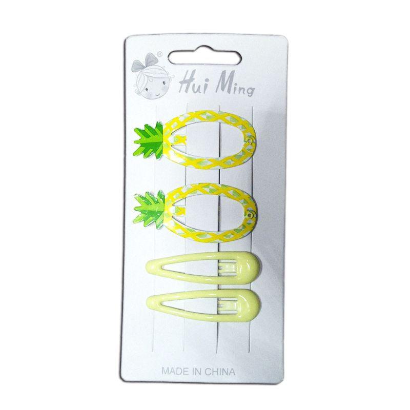 Lovely Printed Cute Fruit BB Clips Hairpins Girls Hair Accessories Children Headwear Baby Hair Clips Headdress