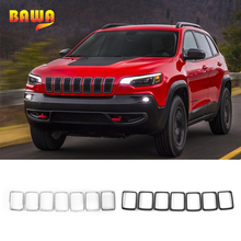 лучшая цена BAWA 7Pcs Racing Grills For jeep grille grand cherokee 2014-2016 Front Grilles Mesh Decoration Cover for Grand Cherokee 2014