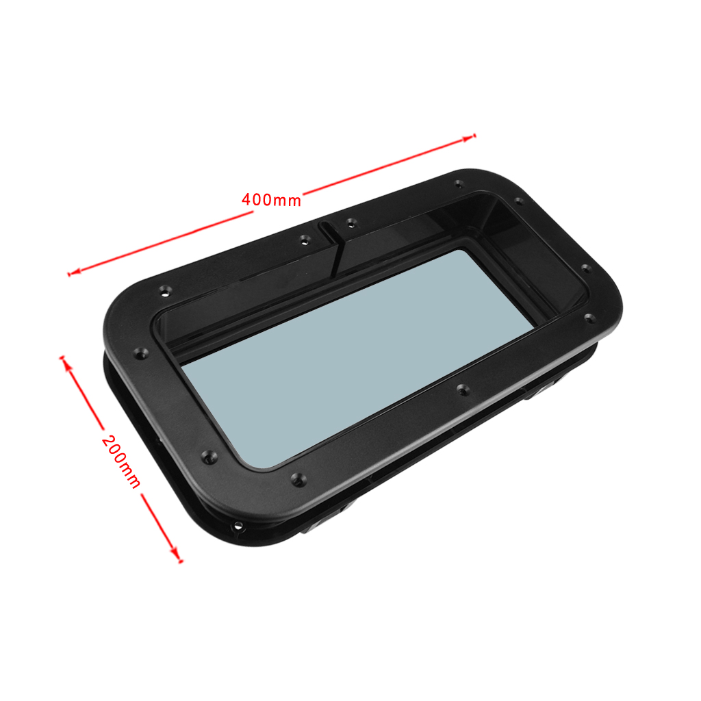 1pcs <font><b>Black</b></font> Rectangular Opening Portlight Porthole <font><b>Hatch</b></font> For <font><b>Boat</b></font> Yacht image
