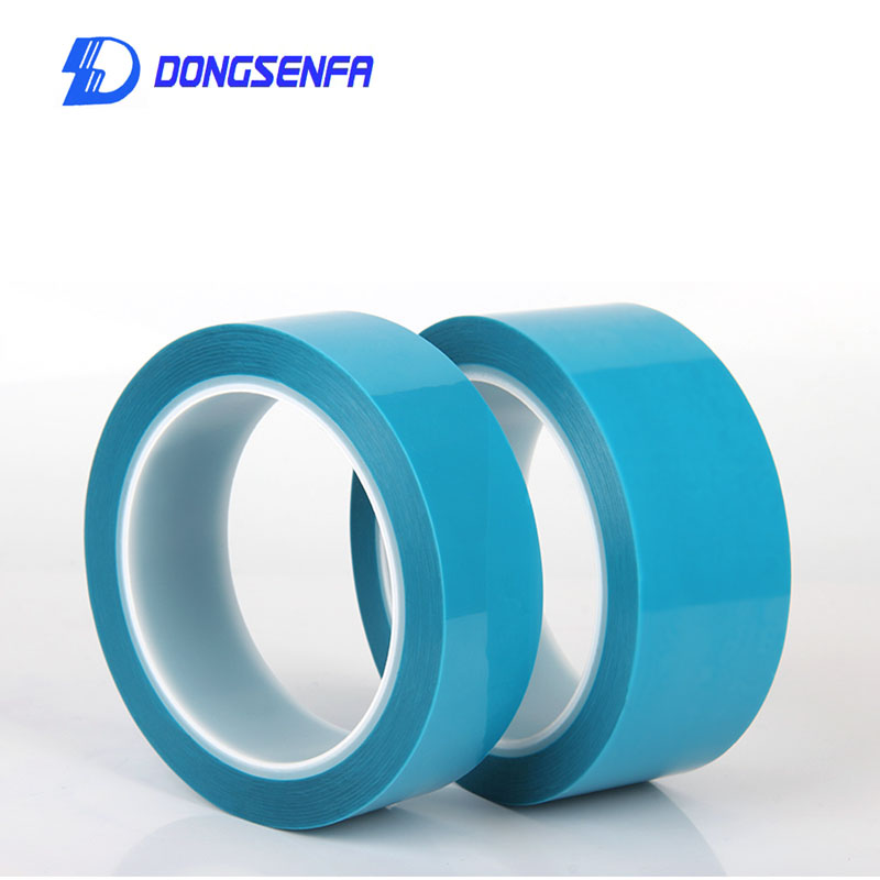 DONGSENFA 50Metre Blue Refrigerator Tape Appliance Facsimile Printer Air Conditioning Parts Fixed Tape PET Single-sided tape