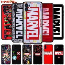 Marvel logo cool for Apple iPhone 12 Pro Max Mini 11 Pro XS Max X XR 6S 6 7 8 Plus 5S SE2020 Soft Black Phone Case