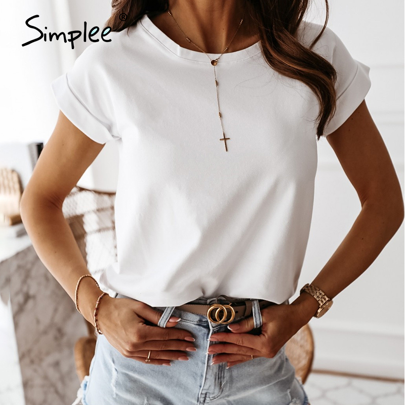 Simplee Summer Trend Style Blouse Shirt Women Casual Vintage Shirt Top Loose Ladies Blouses 2020 Solid Fashion Tops Blusas Mujer