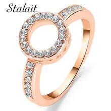 Круглые миди кольца для женщин минималистичное кольцо стразы