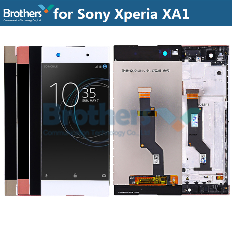 For <font><b>Sony</b></font> Xperia XA1 <font><b>LCD</b></font> Display Touch Screen Digitizer for <font><b>Sony</b></font> G3121 <font><b>G3112</b></font> G3125 G3116 G3123 <font><b>LCD</b></font> Screen Assembly Test Work 100% image