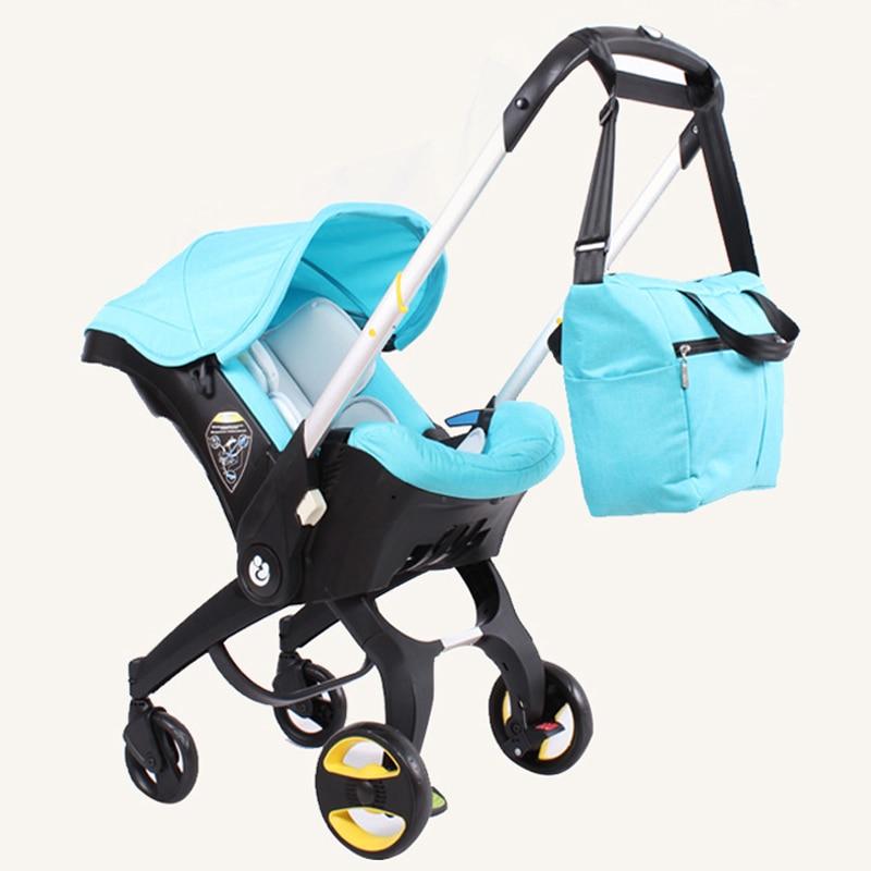 4 In 1 Carseat Baby Stroller Mommy Bag Storage Organzier Baby Carriage Hanging Bag Multi-functional Baby Cart Nursing Bottle Bag