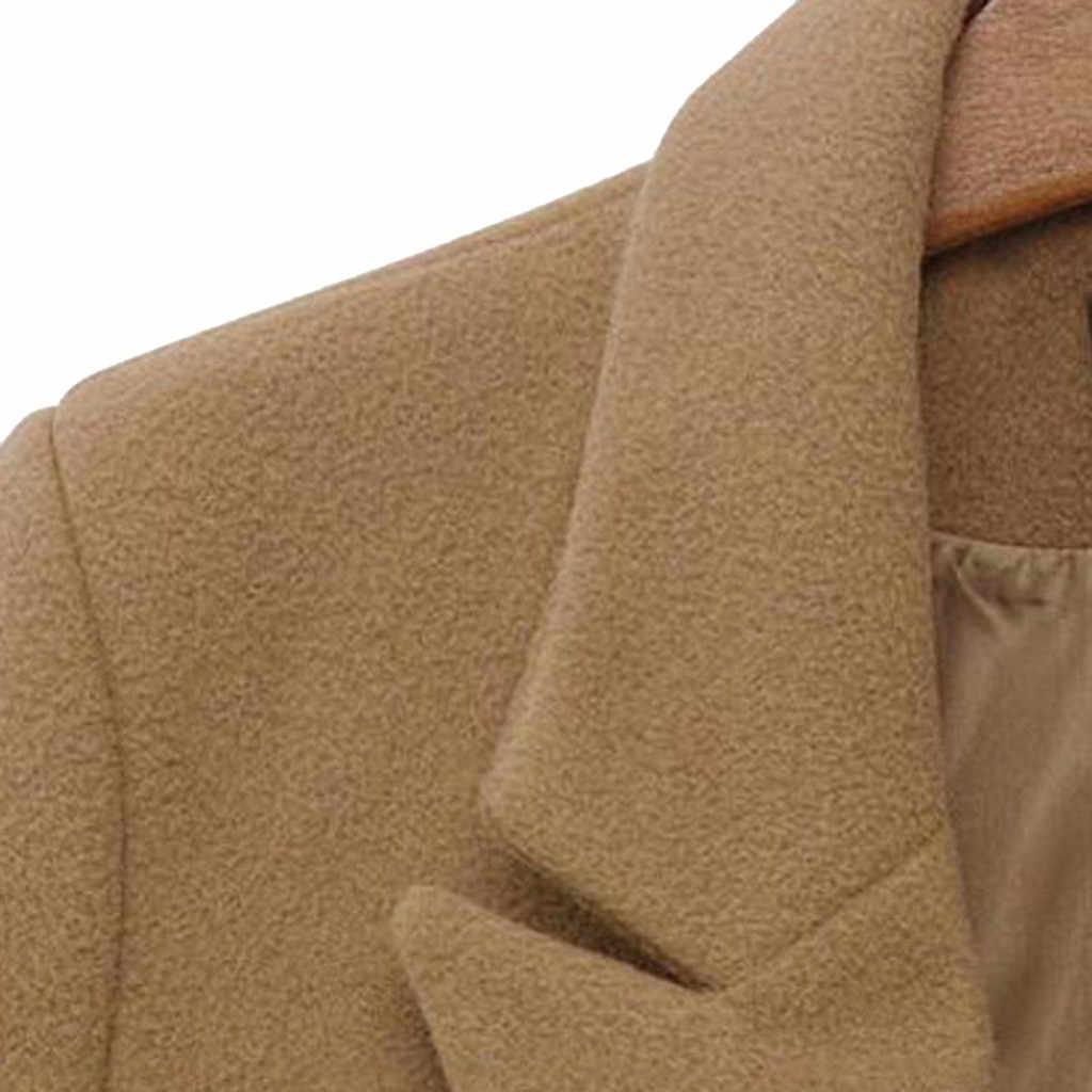 להאריך ימים יותר מעיל מעיל סתיו מכירה לוהטת נשים חורף דש צמר מעיל גשם מעיל ארוך Parka אופנה פשטות רך אלגנטי למעלה