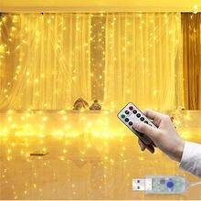 Светодиодные рождественские гирлянды сказочные занавески с дистанционным