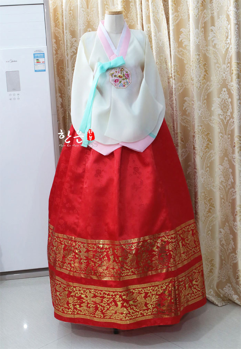 South Korea Imported Foreign Satin Tang Suit Hanbok / Bride Bronzing Hanbok / Ancient Court Hanbok
