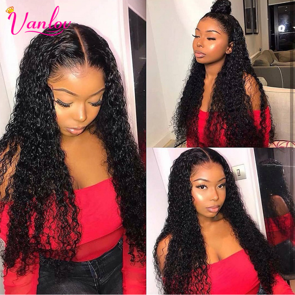 Vanlov 13x4 Brazilian Water Wave Lace Front Human Hair Wigs Pre Plucked Front Lace Wig With Baby Hair Natural Hairline Remyhair (4)
