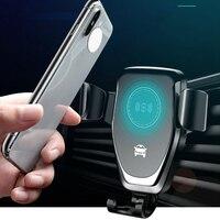 Szybka 15W bezprzewodowa ładowarka samochodowa odpowietrznik uchwyt na telefon dla iPhone XS Max Samsung S9 Xiaomi MIX 2S Huawei Mate 20 Pro 20 RS w Ładowarki bezprzewodowe od Telefony komórkowe i telekomunikacja na