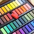 Набор из мягкой пудры 24/48 цветов, Цветной мел, Пастельная глина, ручка для рисования, пигментные художественные материалы для набросков