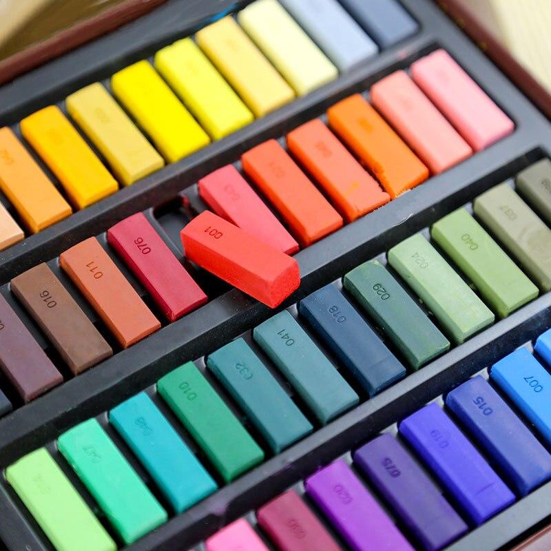 Vara macia ajustada da cor 24/48 do pó, giz da cor, materiais da arte do esboço do pigmento da pena da pintura da argila pastel