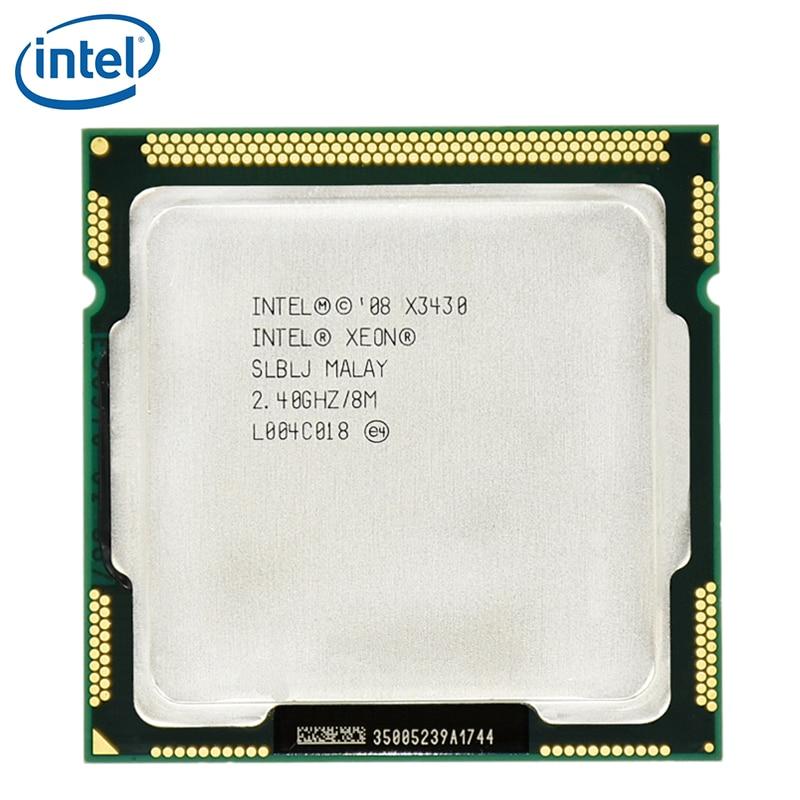 Intel Xeon X3430 8M Cache Quad Core 2.4GHz 95W LGA 1156 Desktop CPU 100% working Desktop Processor tested 100% working 1