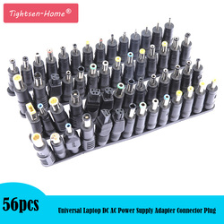 56 pcs/set Universal Plug 56pcs DC  Power 5.5x2.1mm DC head Jack Charger to Plug Power Adapter for Notebook Laptop High Quality