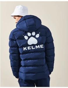 Image 5 - KELME Männer der Baumwolle Jacke Paar Mit Kapuze Warme Mantel Ausbildung Sport Team Uniform Baumwolle Gefütterte Mantel 3881405