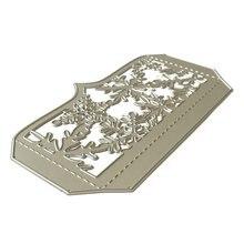 Рождественская Снежинка металлическая крышка для резки трафаретов