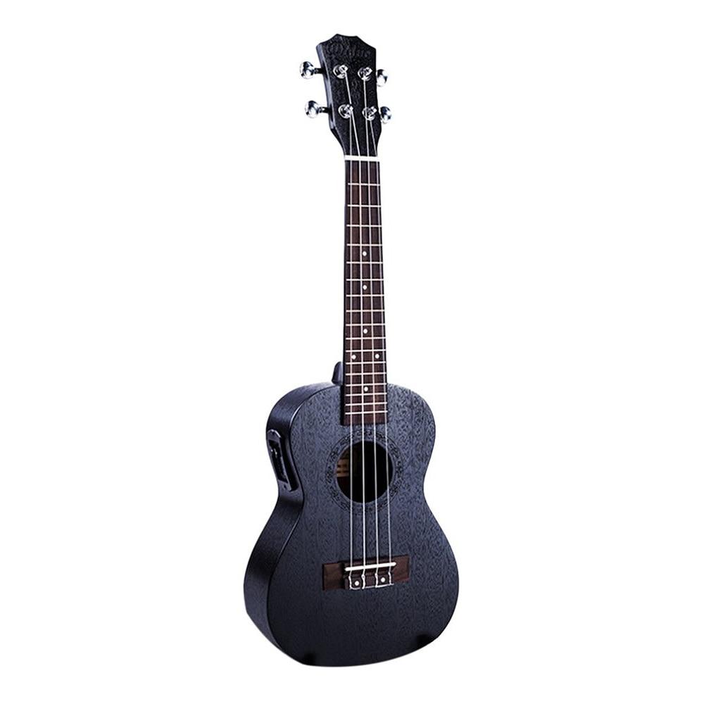 23 Inch Black Electric Concert Ukulele 4 Strings Mahogany Panel Ukulele Hawaii Guitar Musical Instruments