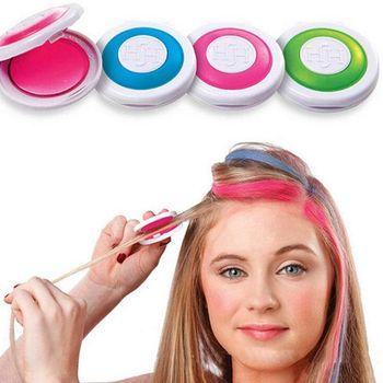 Tinte para el cabello temporal, 4 colores brillantes, para pastel, lavable, DIY, crema para colorear, juego de tiza para adulto, niños, Festival, Fiesta, accesorios