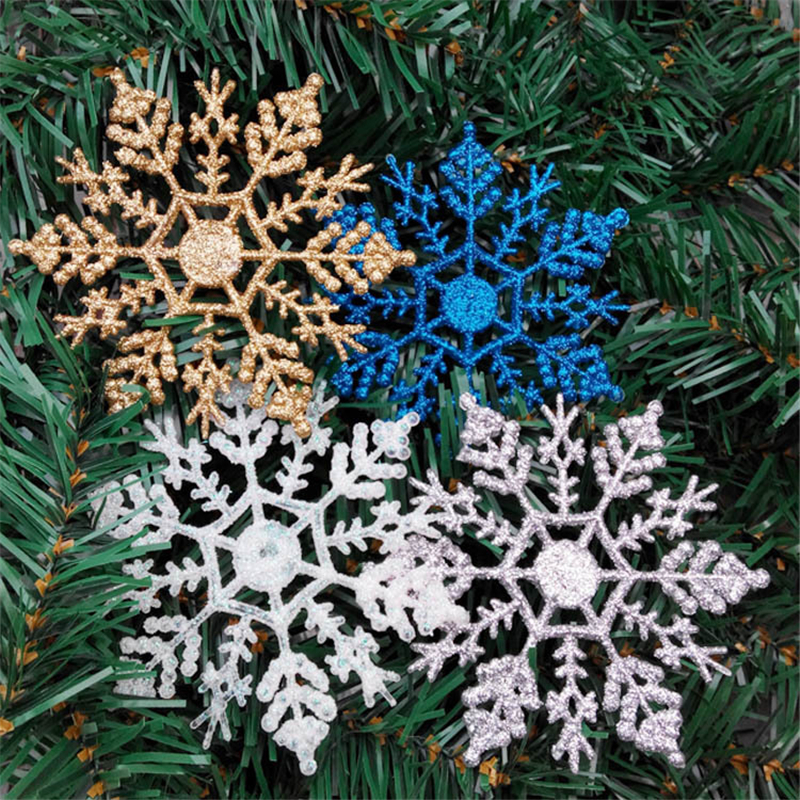 1pcs-10cm-Gold-Silver-Glitter-Powder-Snowflake-Xmas-Ornaments-Pendant-Christmas-Tree-Decor-Party-Wedding-Home(4)