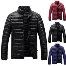 New Winter Jacket Men 2020 Fashion Stand Collar Male Parka Jacket Mens Solid Thick Jackets and Coats Man Winter Parkas L-4XL цена 2017
