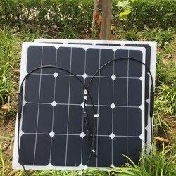 High efficiency semi flexible sunpower solar panel mono solar cell 50W flexible panel solar charger for sale 1pcs 2pcs 3pcs