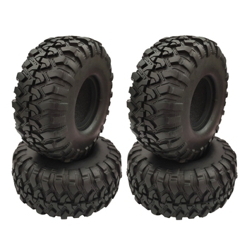 4PCS 1.9 Inch Rubber Tyre 1.9 Wheel Tires 118X48MM for 1/10 RC Crawler Traxxas TRX4 Axial SCX10 90046 AXI03007 yfan 4pcs d1rc 1 8 super grip rc crawler 3 2 inch rc thick wheel tires with sponge for 1 8 rc crawler and 1 10 axial km2 wraith