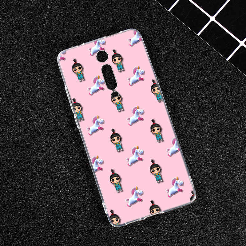 Hot Unicorn Agnes Silikon Phone Case untuk Xiao Mi Mi 9T PRO CC9E 9 9SE 8 A3 A2 lite A1 5X 6X Mi X 3 2 Bermain Pocophone F1 Cover