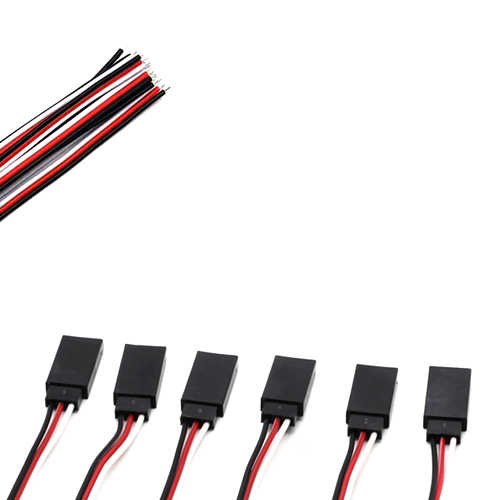 1 Buah Hitam-Merah-Putih JR Type Single Header Wanita 30 Inti Sambungan Kabel Kawat untuk Melayani Motor 10 Cm/15 Cm/20 Cm/25 Cm/30 Cm/50 Cm