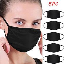Masque Facial Anti-poussière, bavette en tissu réutilisable, lavable, Protection buccale pour femmes et hommes, 5 pièces