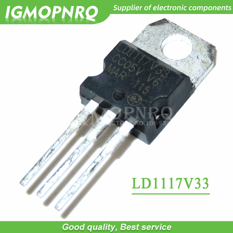10pcs/lot LD1117V33 LD33V Low Dropout Regulator To220 New