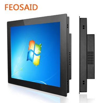 цена на Feosaid 10.4 inch resistive touch screen industrial embedded frame touch computer 10
