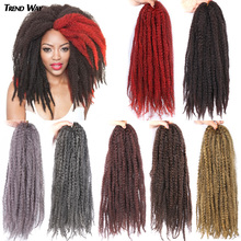 20Inch Synthetic Soft Kinky Twist Hair Long Marley Braiding Hair Heat Extensions Hair For Black Women HighTemperature Fiber Bug cheap TREND WAY High Temperature Fiber CN(Origin) Marley Braids 24strands pack Pure Color Gray Red Purple Marley Braiding Hair