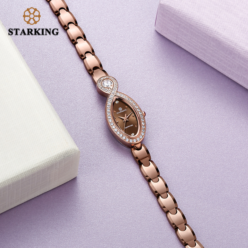 Starking Luxury Tungsten Steel Watch Woman Quartz Sapphire Crystal Watch Female 30m Waterproof Small Dial Watch Ladies Clock in Women 39 s Watches from Watches