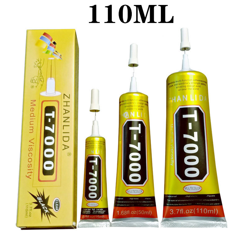 <font><b>110ml</b></font> <font><b>T7000</b></font> Glues Multipurpose Adhesives Super Glues <font><b>T7000</b></font> Black Liquid Epoxy Glues For DIY Crafts Glass Phone Case Metal Fabric image