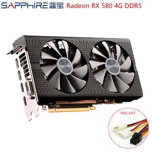 Image 1 - بطاقة فيديو من الياقوت AMD Radeon RX 580 4GB 256bit بطاقات الرسومات للالعاب وحدة معالجة الرسومات RX580 4GB GDDR5 بطاقات الرسومات الألعاب المستخدمة RX580