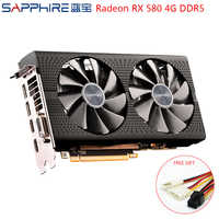 SAPPHIRE AMD Video Card Radeon RX 580 4GB 256bit Gaming PC Graphics Cards GPU RX580 4GB GDDR5 Gaming Graphics Cards Used RX580
