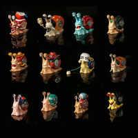 4 pièces Anime une pièce Nami Luffy Ace Sanji Robin Chopper Brook Zoro Usopp Franky Buggy loi Den Den Mushi téléphone figurine