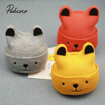 pudcoco 2020 New Baby 3D Cartoon Hat Spring Autumn Baby Hat for Boys Girls Knitted Cap Winter Warm Solid Color Children Hat pudcoco 2020 new baby 3d cartoon hat spring autumn baby hat for boys girls knitted cap winter warm solid color children hat