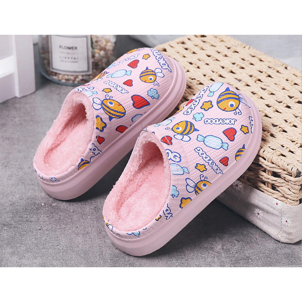 WINTER HOUSE SHOES KIDS GIRLS SLIPPERS INDOOR HOME CLOGS SHOES FOR CHILDREN BABY GIRL TODDLERS EU19-30