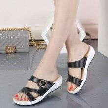 Genuine Leather Women's Summer Gladiator Beach Sandals