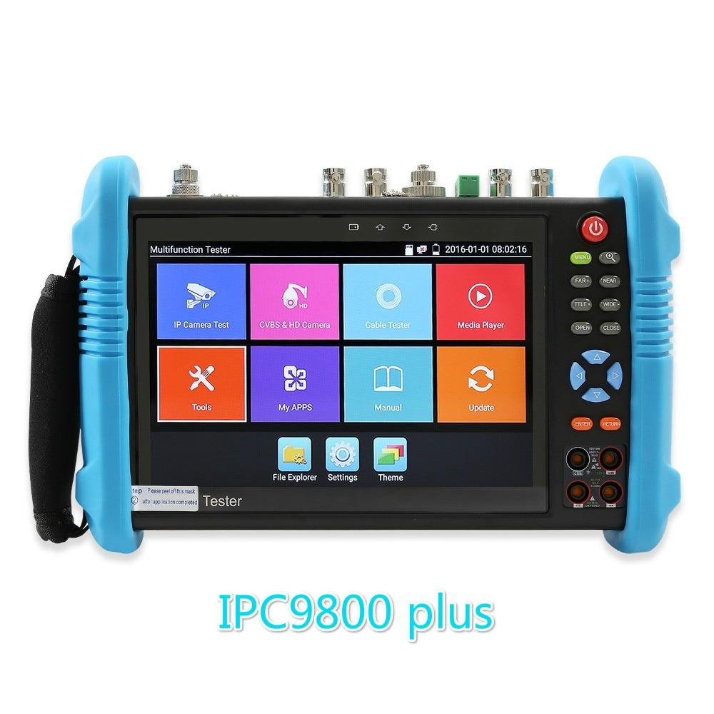 IPC9800 Plus 4k Security Camera Ip 1080P 8MP AHD TVI CVI CVBS SDI  6 In 1 CCTV Tester Monitor ONVIF Multimeter Optical POE