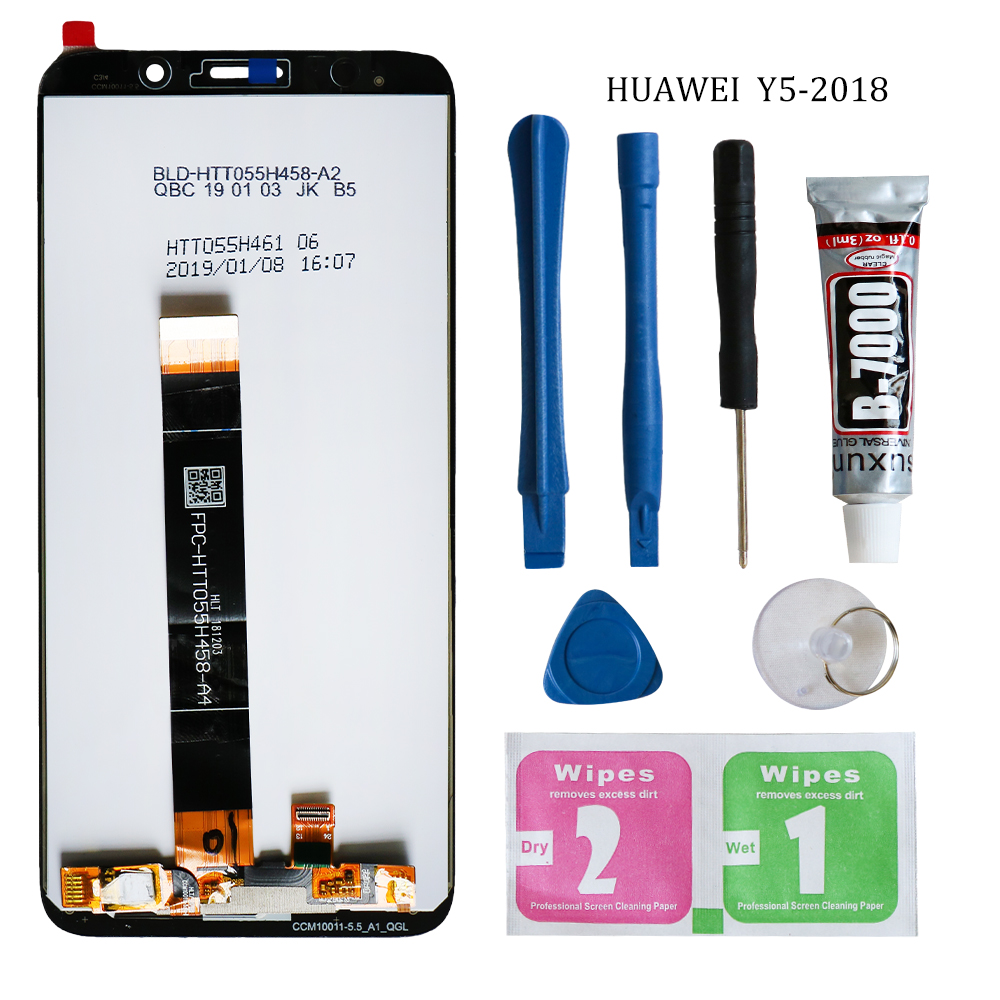 2018 New 5.45 inch for Huawei Y5 prime 2018 LCD Display Touch Screen Digitizer Assembly For Huawei Y5 Pro 2018 LCD With Frame