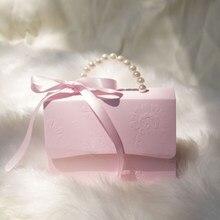 Novo floral imprime sacos de caixas de doces caixas de presente com favores de casamento e presentes alças chá de bebê presentes